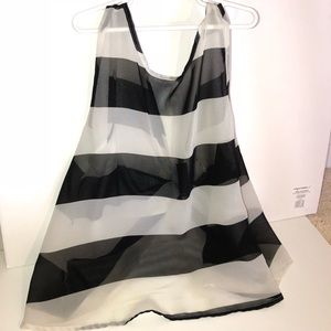 Striped Tank with Bow Back